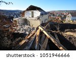 demolition of an old... | Shutterstock . vector #1051946666