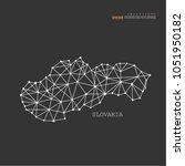 outline map of  slovakia....   Shutterstock .eps vector #1051950182