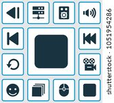 media icons set with camera ... | Shutterstock .eps vector #1051954286