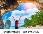 landscape of phra nang cave... | Shutterstock . vector #1051959932