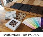 samples of material  wood  ... | Shutterstock . vector #1051970972