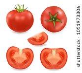 vector 3d realistic different... | Shutterstock .eps vector #1051973306