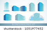 futuristic buildings set ... | Shutterstock .eps vector #1051977452
