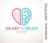 heart and brain concept ... | Shutterstock .eps vector #1051979762