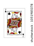 the beautiful card of the jack ... | Shutterstock .eps vector #1051985378