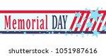 memorial day banner with stars  ... | Shutterstock .eps vector #1051987616