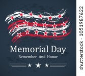 memorial day background with... | Shutterstock .eps vector #1051987622