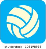 creative volleyball icon | Shutterstock .eps vector #105198995