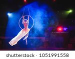aerial acrobat in the ring. a... | Shutterstock . vector #1051991558