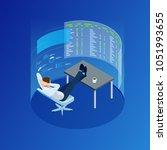 isometric businessman trading... | Shutterstock .eps vector #1051993655