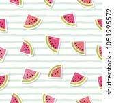 watermelon seamless pattern. | Shutterstock .eps vector #1051995572