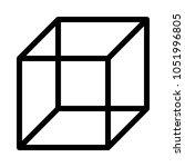 isometric cube shape | Shutterstock .eps vector #1051996805