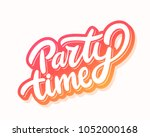 Party Time Banner. Vector...