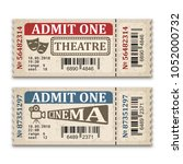 cinema and theater tickets in... | Shutterstock .eps vector #1052000732