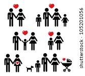 family icons set | Shutterstock .eps vector #105201056