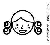 perm hair style illustration | Shutterstock .eps vector #1052021102