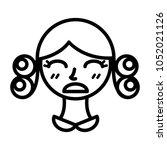 perm hair style illustration | Shutterstock .eps vector #1052021126