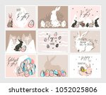 hand drawn vector abstract... | Shutterstock .eps vector #1052025806