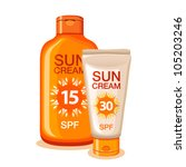 suntan cream and lotion | Shutterstock .eps vector #105203246
