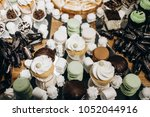 delicious white cookies ... | Shutterstock . vector #1052044916