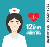 international nurse day banner... | Shutterstock .eps vector #1052046032