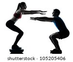 personal trainer man coach and... | Shutterstock . vector #105205406
