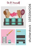 do it yourself set of storage... | Shutterstock .eps vector #1052064206