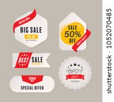 sale price tag with text banner ... | Shutterstock .eps vector #1052070485