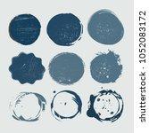 vector grunge shapes.grunge... | Shutterstock .eps vector #1052083172