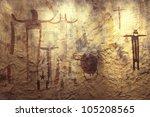 pictograph rock art at seminole ... | Shutterstock . vector #105208565