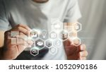 application icons interface on... | Shutterstock . vector #1052090186