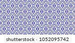 seamless thai pattern  blue and ... | Shutterstock .eps vector #1052095742