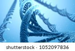 dna spiral blue science... | Shutterstock . vector #1052097836