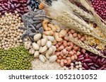 group of carbohydrate food... | Shutterstock . vector #1052101052