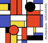 modern art abstract   colorful... | Shutterstock .eps vector #1052101442