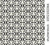 abstract monochrome interlacing ... | Shutterstock .eps vector #1052102366