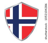 shield with flag of norway.... | Shutterstock .eps vector #1052104286