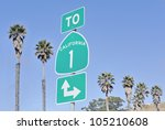 Roadsign On Highway One In...