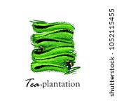 logo with a picture of tea...   Shutterstock .eps vector #1052115455