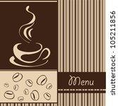 template coffee shop menu | Shutterstock .eps vector #105211856