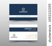 blue vector business card... | Shutterstock .eps vector #1052122355