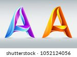 colorful creative letter a....