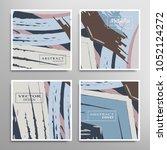 creative artistic backgrounds... | Shutterstock .eps vector #1052124272