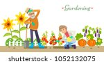older people life style vector... | Shutterstock .eps vector #1052132075