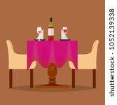 dining tables in restaurant... | Shutterstock .eps vector #1052139338