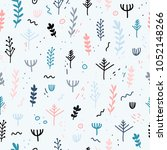design of a seamless pattern... | Shutterstock .eps vector #1052148266