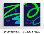 modern art graphics with... | Shutterstock .eps vector #1052157032