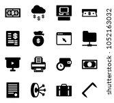 solid vector icon set   dollar... | Shutterstock .eps vector #1052163032