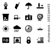 solid vector icon set   airport ... | Shutterstock .eps vector #1052166455