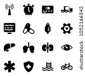 solid vector icon set   antenna ... | Shutterstock .eps vector #1052166542